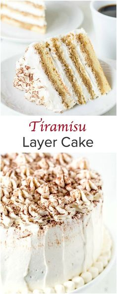 Tiramisu layer cake - a dreamy dessert for all occasions. Melt in your mouth tender and light sponge cake layers are soaked with intense espresso and filled with fluffy eggless tiramisu cream.