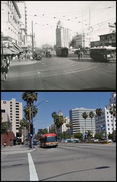 Ocean Blvd and Pacific Ave  Top - 1920's  Bottom - 2010