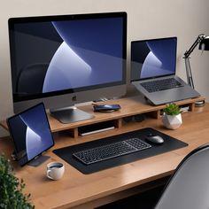 Home Studio Setup, Home Office Setup, Home Office Space, Home Office Design, Computer Desk Setup, Gaming Room Setup, Gaming Desk, Configuration Home Studio, Dream Desk
