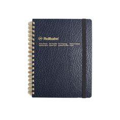 Rollbahn 'LP' Texture Notebook - Blue