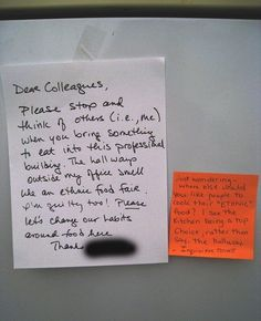 The 26 Funniest Responses To Passive Aggressive Notes
