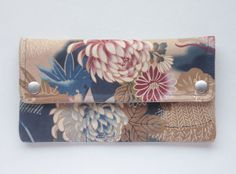 Wallet with Japanese floral pattern by MESIMU on Etsy, $25.00