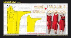 """3 x 1 - WRAP O vestido se tornou um clássico e tem muitas variações, e faz sucesso por seu efeito """"emagrecedor"""". O decote em V e o transpasse ajudam a alongar a silhueta e disfarçar a barriga, além de contornar a cintura, deixando-a em evidência."""