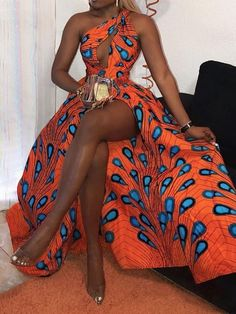 Ericdress African Fashion Floor-Length Sleeveless Standard-Waist Dress Fashion girls, party dresses long dress for short Women, casual summer outfit ideas, party dresses Fashion Trends, Latest Fashion # African Prom Dresses, African Fashion Dresses, African Attire, Fashion Outfits, African Outfits, African Dress Styles, Modern African Dresses, Ankara Styles, African Style Clothing