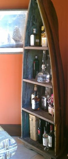 Boat style bar shelving design idea as seen on www.interiordesignpro.org