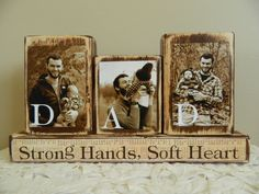 Personalized Fathers Day gift father photo with by FayesAttic11, $25.00