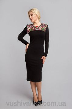 Жіноче плаття з вишивкою Dresses For Work, Formal Dresses, Women's Dresses, Ukraine, Shopping, Clothes, Tops, Diving, Style Fashion