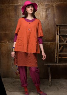 Solid-colour blouse in cotton/modal – Denmark – GUDRUN SJÖDÉN – Webshop, mail order and boutiques | Colourful clothes and home textiles in natural materials.