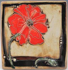 Poppy Tile--Carol Lo