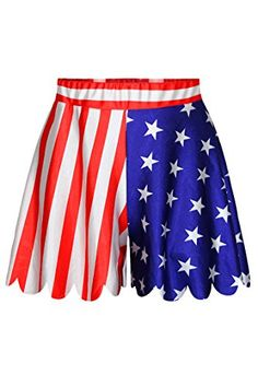 Pink Wind Womens Digital Printed Shorties Shorts Skirt Flared Pants Skirt One Size USA Flag PinkWind http://www.amazon.com/dp/B00VWRGQ58/ref=cm_sw_r_pi_dp_zxx1wb08V6Y68