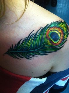 Peacock feather tattoo is also popular because the peacock bird is very meaningful #TattooModels #tattoo