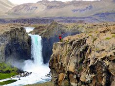 Maule's waterfall is home to daily rainbows and all kinds of birds and animals, Chile.