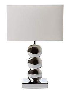 £30  http://www.houseoffraser.co.uk/Linea+Taylor+chrome+table+lamp/151614497,default,pd.html