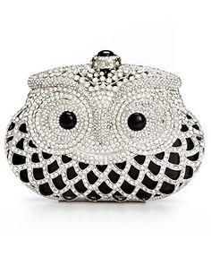 Sasha Handbag, Jeweled Owl Minaudiere Clutch
