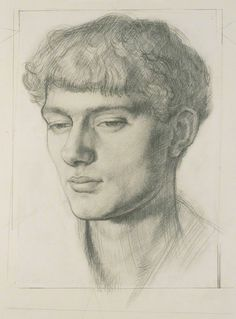 Pencil Portrait Mark Gertler possibly by Dora Carrington pencil, circa 16 in. mm x 318 mm) Life Drawing, Painting & Drawing, Dora Carrington, Dulwich Picture Gallery, Claudio Bravo, Bloomsbury Group, Drawing Studies, National Portrait Gallery, Pencil Portrait