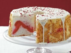 Candy Cane Angel Cake - Holiday Cottage