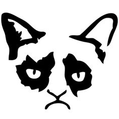 Grumpy Cat Wall Decal   Laptop Decal   Wall by Acherryortwo, $4.99