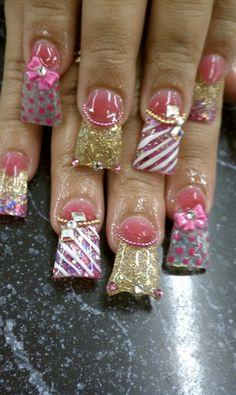 PINK GOLD by LaPulido - Nail Art Gallery nailartgallery.nailsmag.com by Nails Magazine www.nailsmag.com #nailart