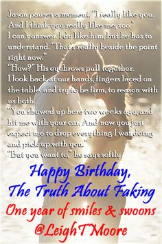 Happy First Birthday, FAKING!!! <3 ~40K smiles & swoons~ Happy First Birthday, Book Stuff, Romance Books, You Really, Looking Back, Giveaways, Authors, Letting Go, High School