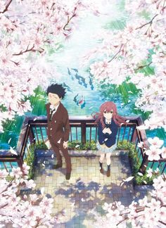 """""""A Silent Voice"""" (Japanese: 聲の形 Hepburn: Koe no Katachi) is a 2016 Japanese anime school drama film produced by Kyoto Animation, directed by Naoko Yamada and written by Reiko Yoshida, featuring character designs by Futoshi Nishiya and music by. Manga Anime, Film Manga, Film Anime, Anime Art, Cosplay Anime, Anime Love, Anime Guys, Koe No Katachi Anime, A Silence Voice"""