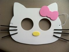 Hello Kitty inspired party masks. $12.00, via Etsy.