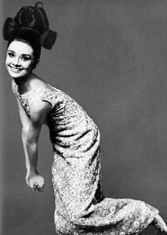 "Audrey Hepburn by Bert Stern for a 1963 Vogue fashion editorial ""The Givenchy Idea""."