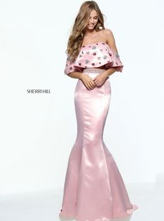 Sherri Hill 51054 large ruffle bodice for prom or pageant #ipaprom