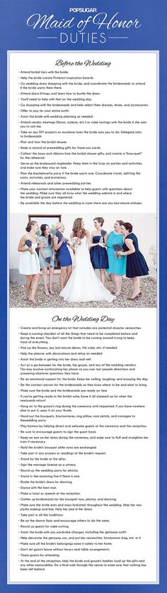 Maid of Honor Checklist: Pin this for future reference!