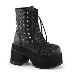 Studded Platform Combat Boots @ SinisterSoles.com