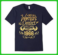 Mens 51st Birthday Gift TShirt Woman Is Perfect 1966, 51 Year Old Small Navy - Birthday shirts (*Amazon Partner-Link)