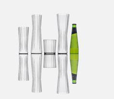 shiro studio designs the latest glassware set for peroni nastro azzurro