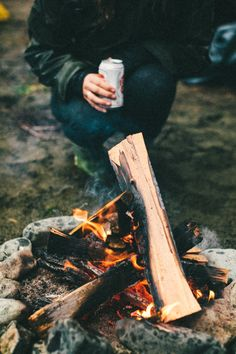 campfire + beers.