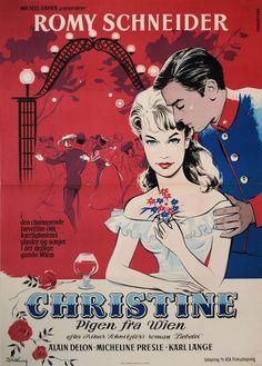 Danish poster for CHRISTINE (Pierre Gaspard-Huit, France, 1958) Designer: Stilling Poster source: KinoArt.net