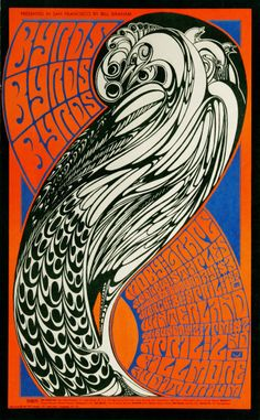 The Byrds | Moby Grape | Andrew Staples - Fillmore Auditorium April 2, 1967 - Winterland March 31 & April 2, 1967 (San Francisco, CA) Artist Wes Wilson