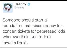 Sounds like an actual good cause but like there like real foundations who need the money more. Not to say people with depression have it easy bc I used to have it and that shit wasn't easy to deal with