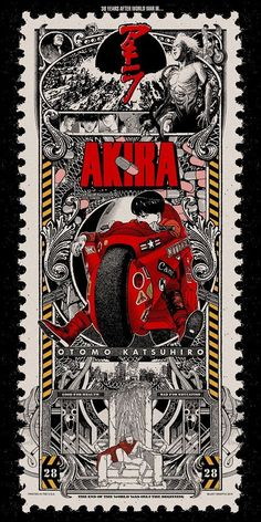 "xombiedirge: ""AKIRA by Matt Dye / Tumblr * 18″ X 36"" 5 color screen print on Pearl Foil. """