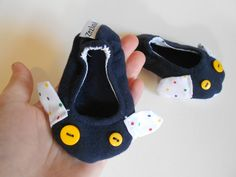 Baby Shoes  Zlippers Baby little slippers / soft sole by Zezling, €13.00