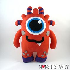 Stuffed Monster Plush Stuffed Animal Cute Toy Baby Plushie Monster Children Buddy Snuggly Cuddly Kids Friend