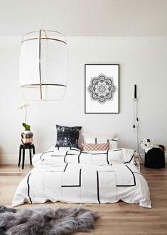 Home Bedroom, Modern Bedroom, Bedroom Decor, Bedroom Ideas, Master Bedroom, Monochrome Bedroom, Nursery Modern, Calm Bedroom, Futon Bedroom