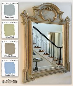 24 Ideas Annie Sloan Painted Furniture Blue French Linens For 2019 Chalk Paint Mirror, Chalk Paint Colors, Mirror Painting, Diy Painting, Painted Mirrors, Redo Mirror, Annie Sloan Painted Furniture, Annie Sloan Paints, Chalk Paint Furniture