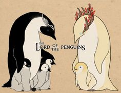 Elrond and Thranduil as...penguins? I don't even know anymore...