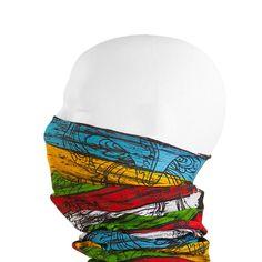 Multifunktionstuch / Schlauchtuch / Halstuch - Rings of Colour in Bekleidung Accessoire  • Schals & Tücher • Multifunktionstücher
