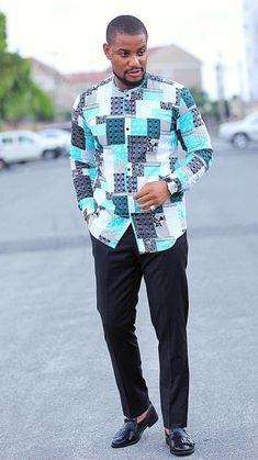 African Shirts Designs, African Shirts For Men, African Dresses Men, African Attire For Men, African Clothing For Men, African Wear, Nigerian Men Fashion, African Men Fashion, Africa Fashion