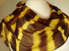 Women's Hand Dyed Shibori Scarf Silk Chiffon by FlingamoScarves