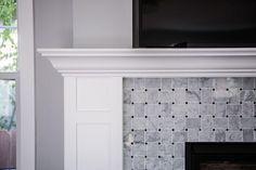 Shop 11 x 11 Arbor White Carrara With Black Dot Polished Marble Tile at TileBar.com.