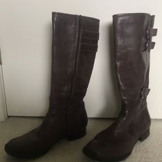 7b443559987 Shop Women s Born Brown size 8 Heeled Boots at a discounted price at  Poshmark. Description  New born Attila dark brown boots Sold by  laynieswafford.