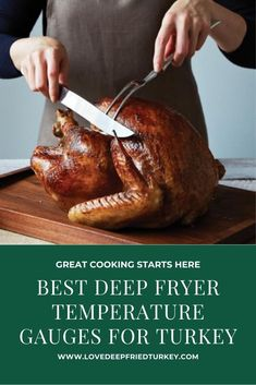 Check out the top Turkey Frying Thermometers that include the best thermometers not just for deep-frying but for grilling and baking, as well. #turkey #thermometer #guage #gauge #temp #temperature #baking #cooking #frying #grilling #smoking #bbq #home #food #foodanddrink #kitchen #gadget #review