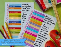 Creative Party Ideas by Cheryl: Back To School Interview