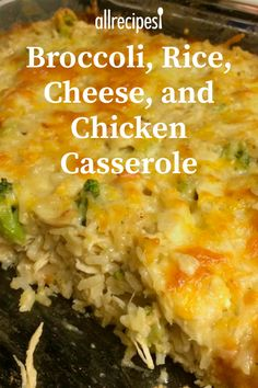 Broccoli Rice Cheese and Chicken Casserole Broccoli Rice Cheese and Chicken Casserole Erina Cooking Idea Cooking Times Broccoli Rice Cheese and Chicken Casserole This is […] rice mushroom Chicken Broccoli Rice Casserole, Cream Of Chicken Casserole, Casseroles With Chicken, Cheddar Broccoli Rice, Chicken Cassarole, Chicken Divan Recipe, Quick Casseroles, Easy Chicken Recipes, Easy Recipes For Dinner