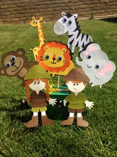 Jungle Safari Birthday Party Centerpiece by DreamComeTrueParties, $30.00
